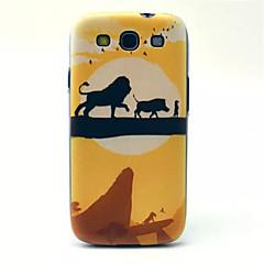 løve mønster pc telefon tilfældet for samsung s3 i9300