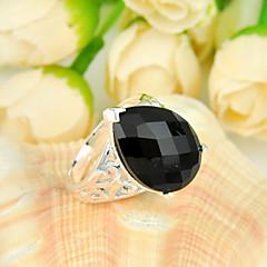 muoti perheen ystävä lahja tulen tippa Black Onyx helmi 925 hopea selvitys kukka renkaat hääjuhlissa päivittäin rento 1kpl
