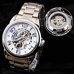 Men's New Round Dial Stainless Steel Band Waterproof Fashion Mechanical Watch  (Assorted Colors)