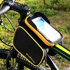 CoolChange® Bisiklet Çantası 3LBisiklet Çerçeve Çantaları Bisiklet Sırt Çantası Sırt Çantası AksesuarlarıYağmur-Geçirmez Yansıtıcı Şerit