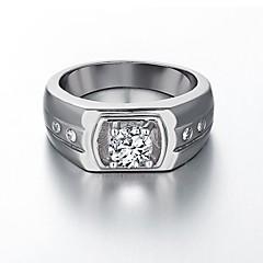 AAA Zirconium Drill 18 K Platinum Plating High Quality Diamond Ring Men's Women's Jewelry