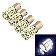youoklight® 4pcs BA15S 5W 400LM 127x smd1206 levou luz branca lamp- apoio carro / direcção (12v)