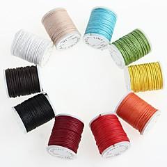 10pcs rueda mezcla 10m encerado cordón de cuentas de collar de algodón cadena 0.9mm