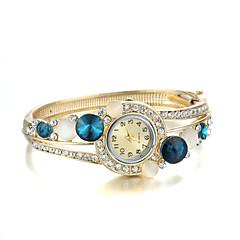Dames Modieus horloge Kwarts Legering Band Bangle armband Goud Merk-