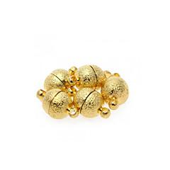 5pcs broches de oro de tono para el collar toma de bricolaje