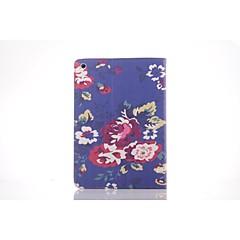 Blue Peony Pattern PU Leather Full Body TPU Case with Card Holder for Ipad 2/ Ipad 3/Ipad 4