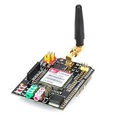 gsm / gprs escudo módulo de placa de extensión inalámbrica con antena / adaptador para arduino