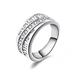 XU™  Women's 925 Silver Plated Diamonds Ring""