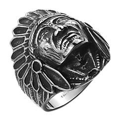 Heren Ring Kostuum juwelen Roestvast staal Titanium Staal Verzilverd Sieraden Voor Dagelijks Causaal Sport