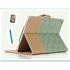 speciellt utformad bula färg PU läder auto sömn för ipad4 / 3/2 tunt skal + gratis skärmsläckare + pekskärm penna