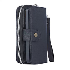 PU Leather Black Special Design Litchi grain fission sealing zipper purse holster iPhone 5S