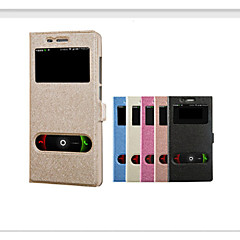 Voor Mi hoesje met venster Flip hoesje Volledige behuizing hoesje Glitterglans Hard PU-leer voor Xiaomi
