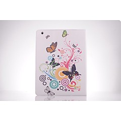 butterfly mønster PU lær full body TPU Veske med kortholder for iPad 2 / iPad 3 / ipad 4