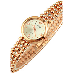 Women's Diamante round Dial Alloy Band Quartz Analog Wrist Watch Cool Watches Unique Watches