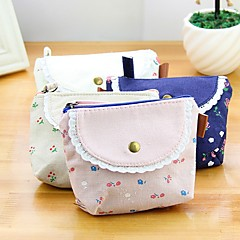 Clamshell Stylish Shivering Pattern Multi Color Canvas Coin Purse (Random Delivery)