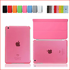 For iPad 2 3 4 Smart Cover Case Front leather Cover+Transparent Back Cover