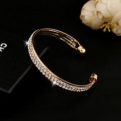Bransoletki cuff Kryształ sztuczna Diament 18K złoty Unikalny Modny Biżuteria Gold Silver Biżuteria 1szt