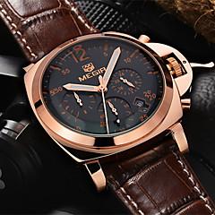 megir®men ležérní hodinky z pravé kůže luxusní hodinky quartz náramkové hodinky chronograf hodinky Sport (různé barvy)