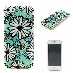 Small White Flowers  Pattern TPU Phone Case For iPhone 5/5S
