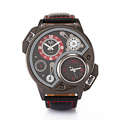 Oulm  Male Dual Time Zone Military Outdoor Sports Watches