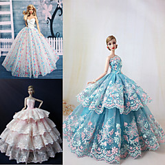 3 Pcs Barbie Doll Festival Ceremony Princess Style Elegant Dress