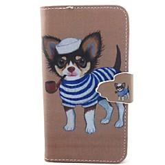 Na Samsung Galaxy Etui Etui na karty / Z podpórką / Flip / Wzór / Magnetyczne Kılıf Futerał Kılıf Pies Skóra PU Samsung A5 / A3