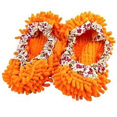 Zemin tembel ayakkabı kapağı turuncu anlamak şönil terlik