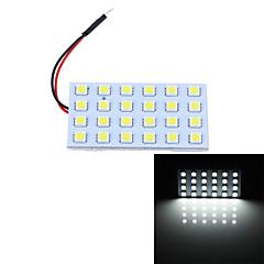 T10 BA9S Festoon 7.2W 360lm 6000K 24-SMD 5050 LED White Light Car Reading Lamps / Indoor Light (12V)