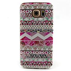 Voor Samsung Galaxy hoesje Hoesje cover Patroon Achterkantje hoesje Geometrisch patroon TPU voor Samsung Galaxy S6 edge S6 S5 Mini S5 S4