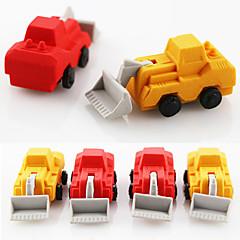 Cartoon Bulldozer Assemble Rubber Eraser (Random Color)
