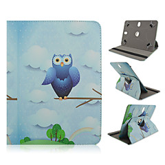 Owl Ms Pattern 360 Degree Rotation High Quality PU Leather with Stand Case for 10 Inch Universal Tablet