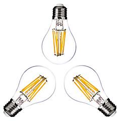 3 pezzi ONDENN E26/E27 6W 6 COB 600 LM Bianco caldo G60 edison Vintage Lampadine LED a incandescenza AC 220-240 / AC 110-130 V