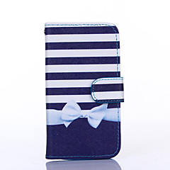 Bowknot Pattern PU Leather Full Body Case with Stand for Multiple Samsung Galaxy S4/S5/S6/S6Edge