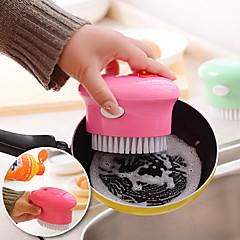 ovalada cepillo para lavar la vajilla en forma con toois cocina dispensador de jabón líquido (color al azar)