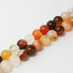 Beadia 39Cm/Str (Approx 65Pcs) Natural Stone Beads 6mm Round Natural Agate Beads DIY Accessories