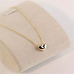 guld kärlek hjärta kort nyckelbenet halsband (guld / silver) (1st)