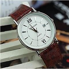 roman calendário relógio faixa marrom dos homens