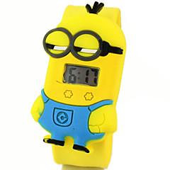 kinderen leuke cartoon siliconen ultraman minions patroon mooie digitale kalender waterbestendig klap horloge