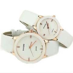 paar casual wijzerplaat pu band quartz horloge