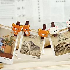 Cartoon Bear Wooden Clip Set(6 PCS)