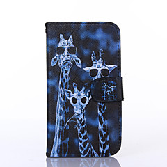 Crazy Deers Pattern PU Leather Full Body Case with Stand for Multiple Samsung Galaxy S4/S5/S6/S6Edge