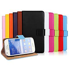 Na Samsung Galaxy Etui Portfel / Etui na karty / Z podpórką / Flip Kılıf Futerał Kılıf Jeden kolor Skóra PU Samsung Ace Style LTE