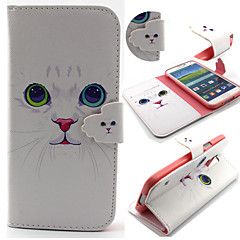 Cute Cat Pattern with Card Bag Full Body Case for Samsung Galaxy S3/S4 Mini/ S5