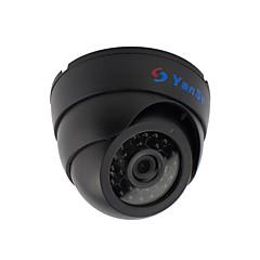 yanse® 1000tvl 2.8mm plastik kryty d / n Kamera kopułkowa IR 24 doprowadziły przewodowy 632cf