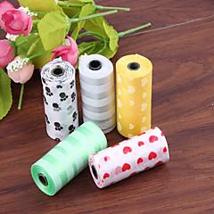 Multi sacchetti di immondizia colore per Cani Gatti 10 * 15 sacchetti 32 * 27 centimetri