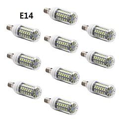 7W E14 / G9 / E26/E27 Ampoules Maïs LED T 56 SMD 5730 600 lm Blanc Chaud / Blanc Froid AC 100-240 V 10 pièces