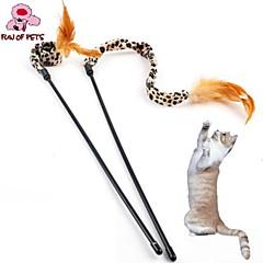고양이 반려동물 장난감 티저 / 깃털 장난감 매트한 블랙 브라운 직물