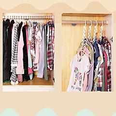 Set of 8 Ipow Metal Wonder Magic Clothes Closet Hangers Clothing Organizer