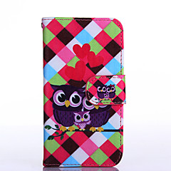 Love Owl Pattern PU Leather Full Body Case with Stand for Multiple Samsung Galaxy S5Mini/S4Mini/S3Mini