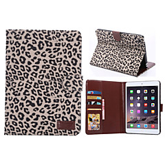 leopard stil pu skinnkortspor& lommebok med holder for ipad mini 2/3 (assorterte farger)
